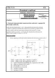 Měření vlastností stejnosměrných tranzistorových zesilovačů - HomeL