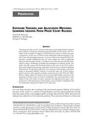 perspectives exposure triggers and allocation - College of Business ...
