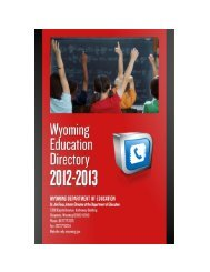 WDE Education Directory - Wyoming Department of Education