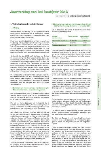 Deel 2: Activiteitenverslag - Mobistar