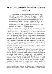 recent trends in biblical source criticism - Jewish Bible Quarterly