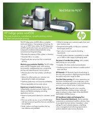 HP Indigo press ws4500