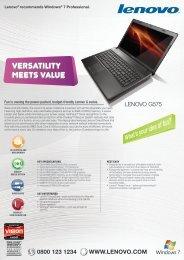 G575 Tech Specs - Lenovo | US