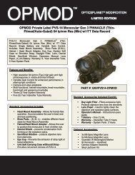 OPMOD Private Label PVS-14 Monocular Gen 3 ... - OpticsPlanet.com