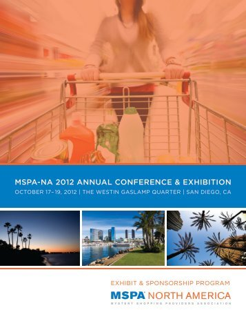 mspa-na 2012 annual conference & exhibition - Mystery Shopping ...