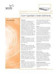 3Com® SuperStack® 3 Switch 3200 Family Data Sheet - VB