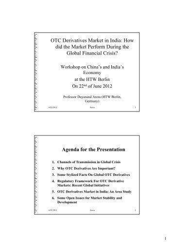 OTC Derivatives Market in India - DAAD partnership on economic ...