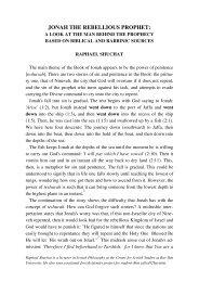 JONAH THE REBELLIOUS PROPHET: - Jewish Bible Quarterly