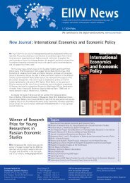 New Journal: International Economics and Economic Policy - EIIW