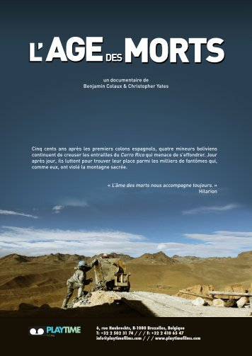 L' AGEDES MORTS - Playtime films