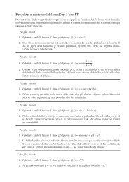 Projekty z matematické analýzy I pro IT - HomeL