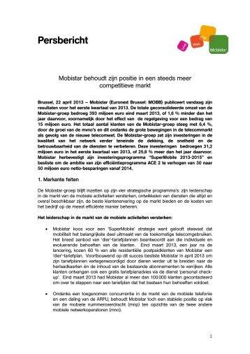 Volledige persbericht (.pdf) - Mobistar