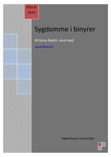 Sygdomme i binyrer - Asma Bashir
