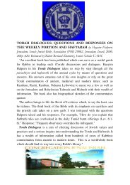TORAH DIALOGUES: QUESTIONS AND RESPONSES ON THE ...