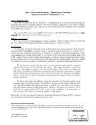 2007 CIRP Freshman Survey Administration Guidelines - Higher ...