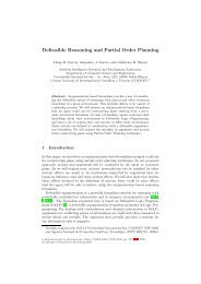 Defeasible Reasoning and Partial Order Planning - Departamento ...