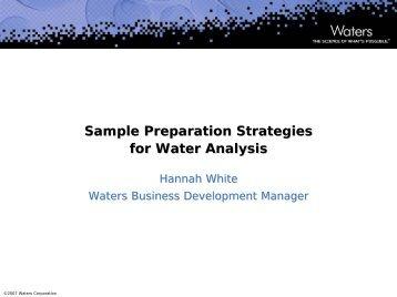 Sample Preparation Strategies for Water Analysis