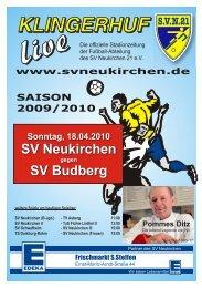 Stadionheft Nr.09 vom 08.04.10 - SV Neukirchen