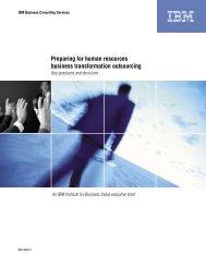 IBV- Preparing for HR BTO: Key questions and decisions - IBM