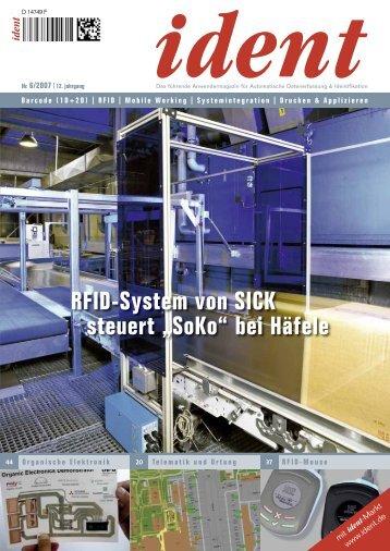 """RFID-System von SICK steuert """"SoKo"""" bei Häfele"""
