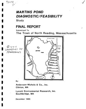 MARTINS POND DIAGNOSTIC_FEASIBILITY STUDY FINAL REPORT