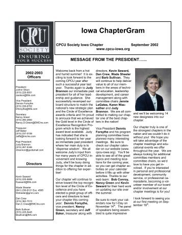 September 2002 - Iowa CPCU Society Chapter