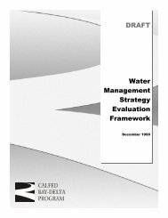 DRAFT Water Management Strategy Evaluation Framework