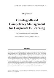 Ontology-Based Competency Management for Corporate E-Learning