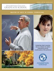 School Counseling Catalog - graduate studies at assumption college