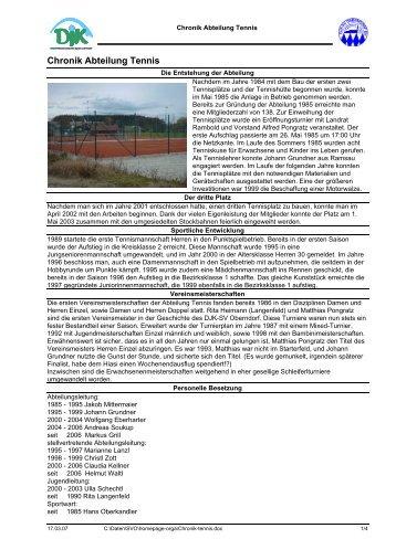 chronik-tennis.pdf - DJK SV Oberndorf