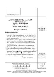 arkusz próbnej matury z operonem j¢zyk rosyjski - Gazeta.pl