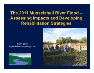 The 2011 Musselshell River Flood – Assessing Impacts and ...