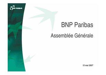8 213 M€, +20,5% / 1T06… - BNP Paribas