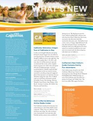 What's New in CA Spring 2013 - the California Tourism Industry ...