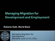 Roberta Gatti, World Bank - Global Forum on Migration and ...