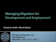 Roberta Gatti, World Bank - Global Forum on Migration and ...