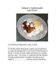 Johann's Apfelstrudel - The Geriatric Gourmet