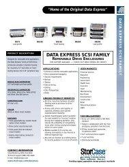 data express scsi family removable drive enclosures - VB