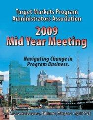 Navigating Change in Program Business. - Target Markets