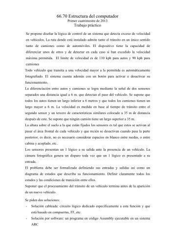 Consigna del Proyecto - Actualizado al 29/04/2013