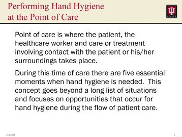 Hand Hygiene In-Service - IU Health