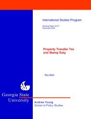 Property Transfer Tax and Stamp Duty - Andrew Young School of ...