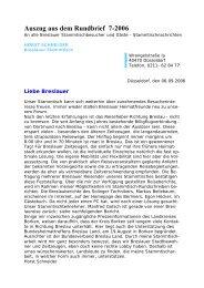 Auszug aus dem Rundbrief 7-2006 - Breslau-Wroclaw