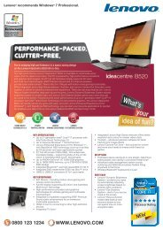 B520 tech specs - Lenovo | US