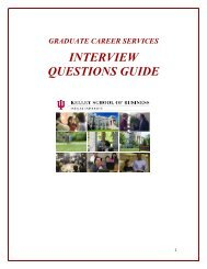GCS interview guide - Kelley School of Business