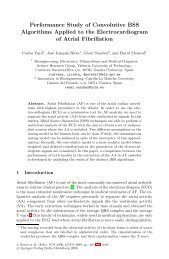 Performance Study of Convolutive BSS Algorithms Applied to the ...