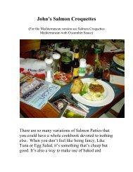 John's Salmon Croquettes - The Geriatric Gourmet
