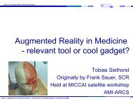 AR - Chair for Computer Aided Medical Procedures and Augmented ...