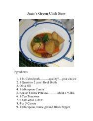 Juan's Green Chili Stew - The Geriatric Gourmet