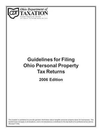 2006 - Ohio Department of Taxation - State of Ohio